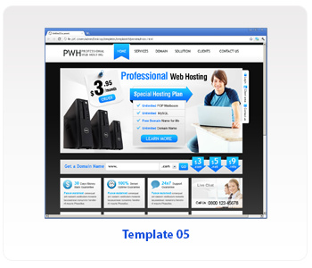 web hosting template 05