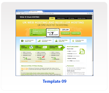 web hosting template 09