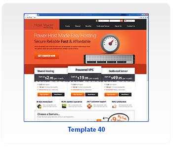 web hosting template 40
